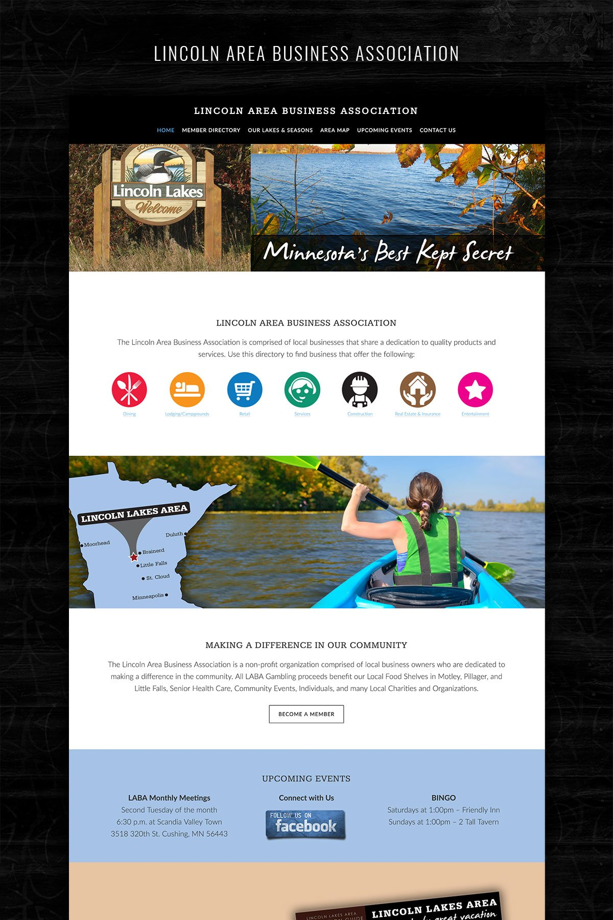 website design cushing mn