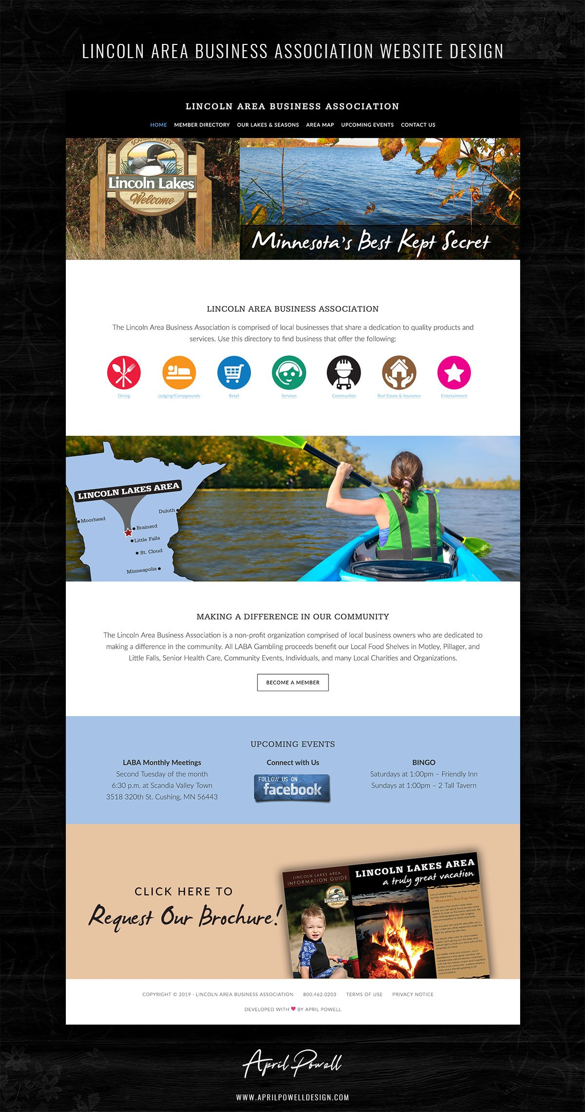website design central mn from branding and design portfolio