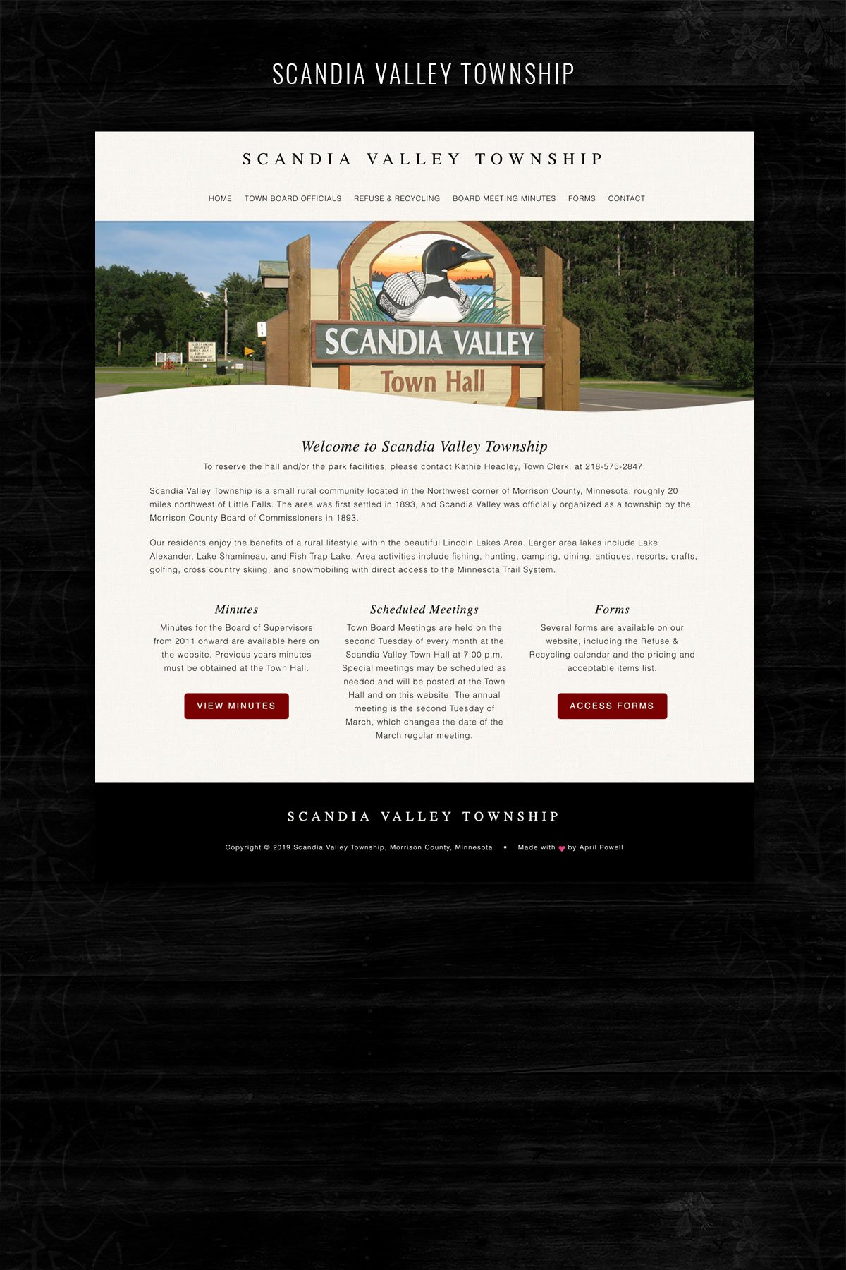 website design for mn townships