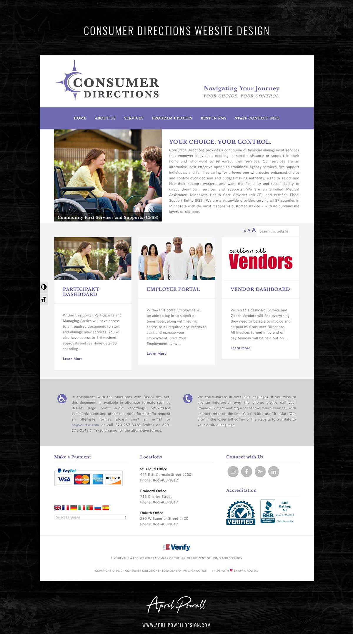 website design st cloud mn from branding and design portfolio