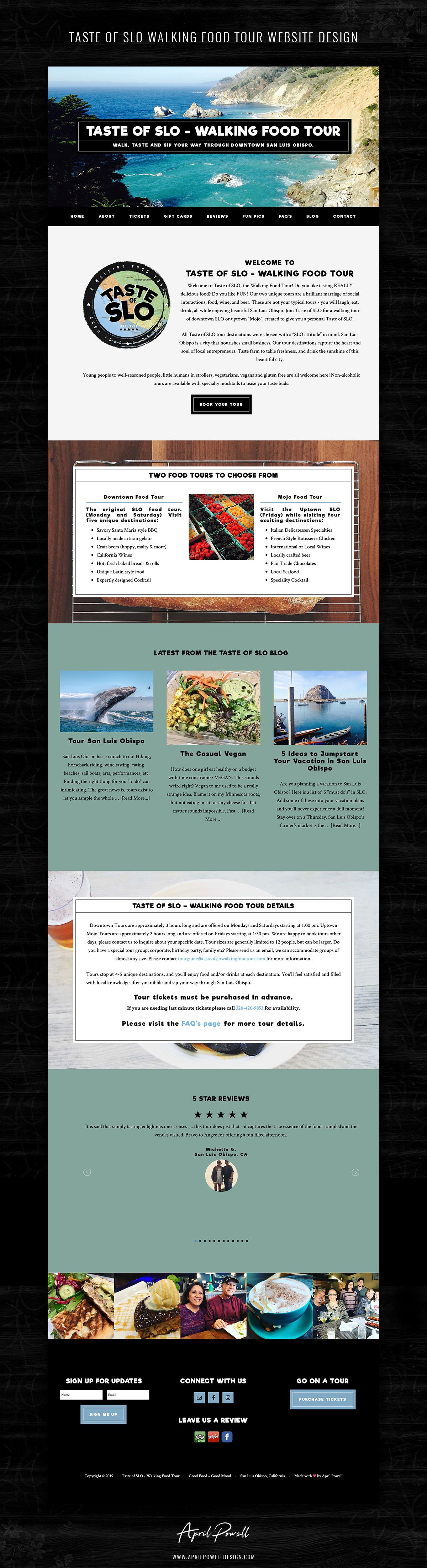 website design san luis obispo california from branding and design portfolio