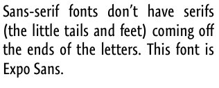 Types of fonts - Sans-Serif font