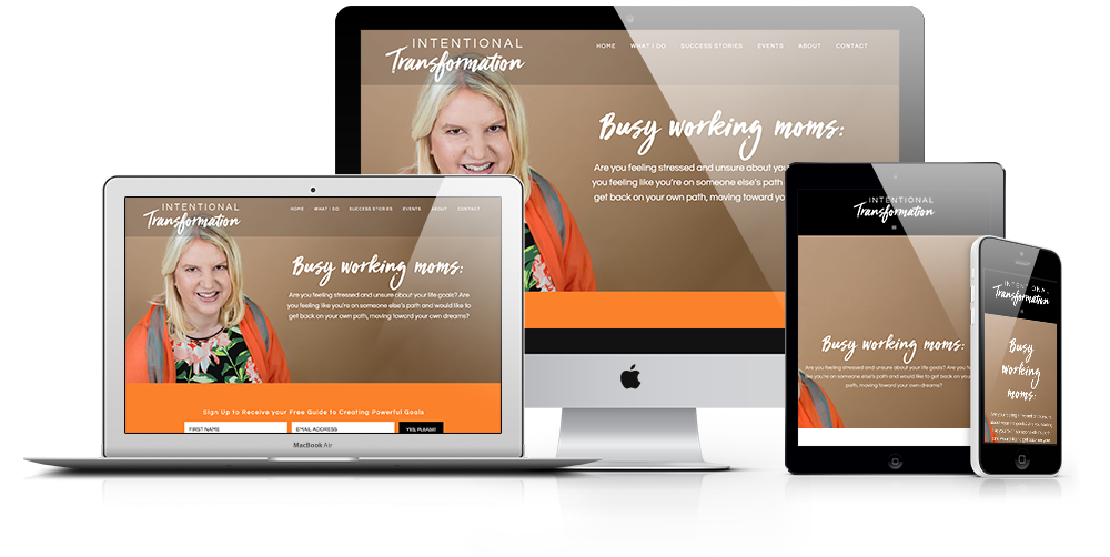 Website Design for Coach Chelle Johnson, Intentional Transformation