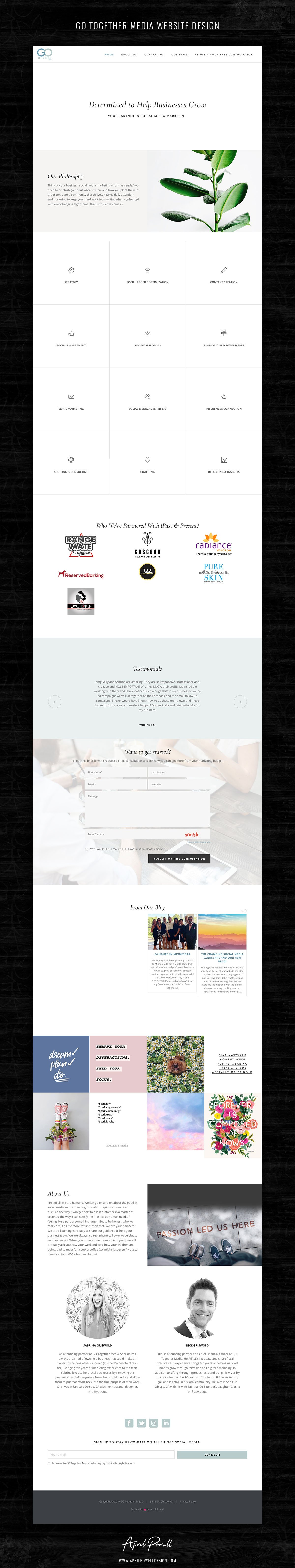 simple and strategic website design