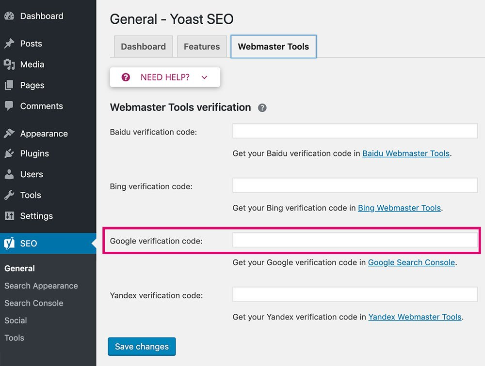 How to Add Your Website to Google Search Console with Yoast SEO